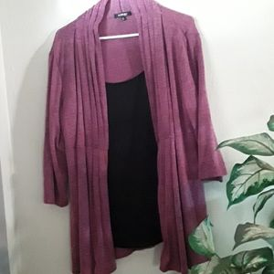Elements Top w/attached Jacket  (1X)